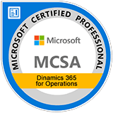 Microsoft Certified Solutions Associate Dynamics 365 for Operations