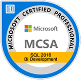 Microsoft Certified Solutions Associate SQL 2016 BI Development