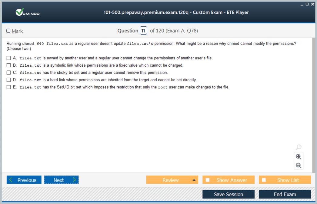 101-500 Exam Screenshot #1
