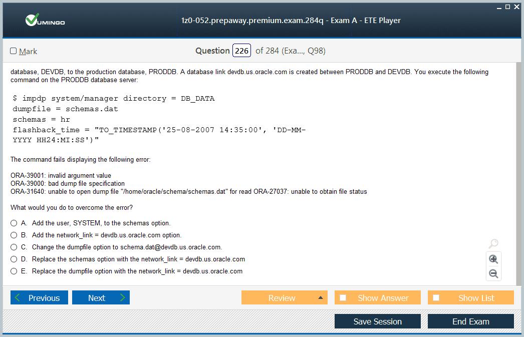 Oracle 1z0-052 Exam Dumps, 1z0-052 Practice Test Questions