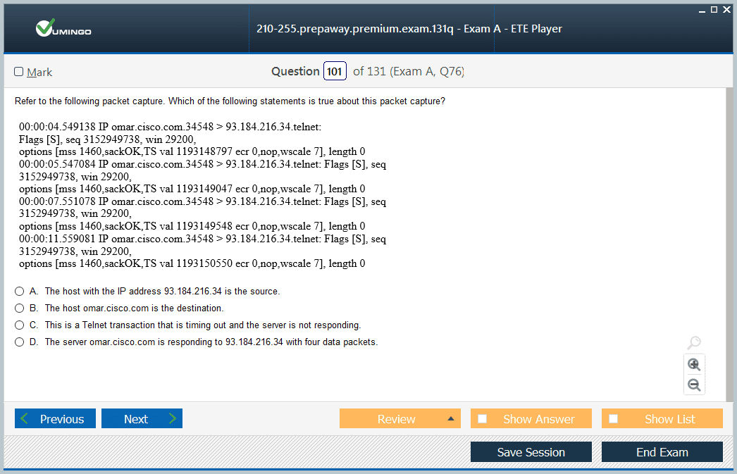 210-255 Exam Screenshot #3
