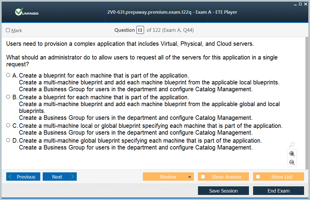 VMware Certified Professional 6 Cloud Management 2V0-631 Exam Q/&A PDF+SIM