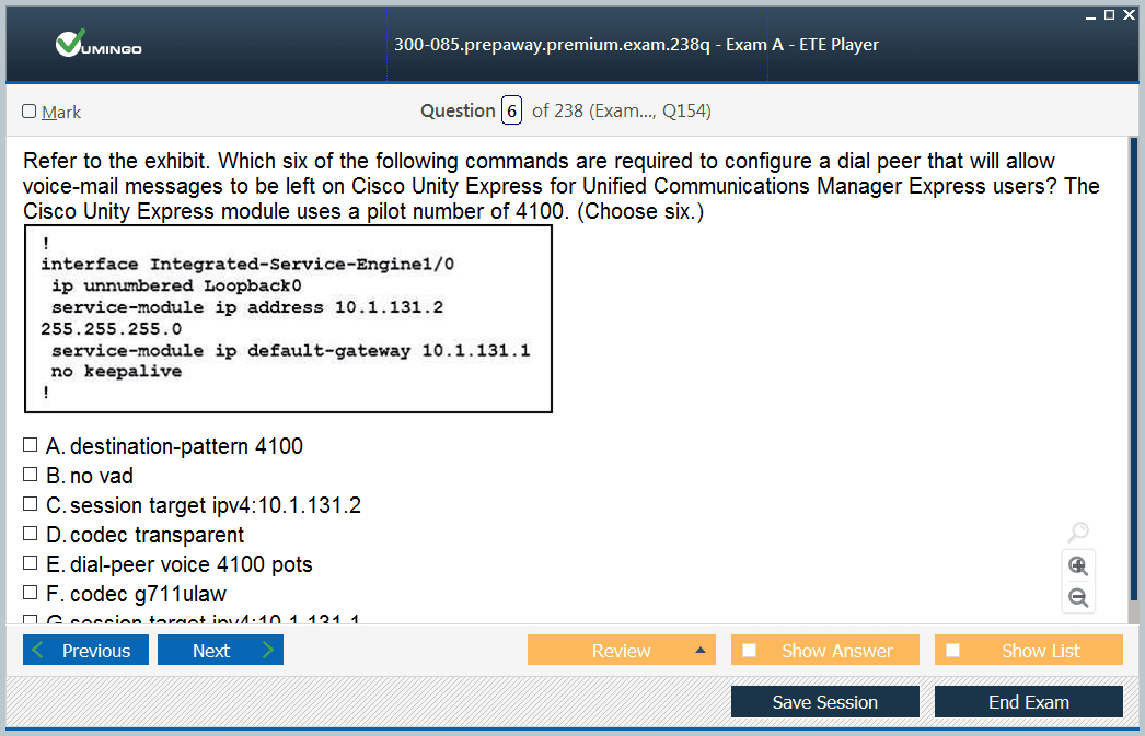 300-085 Exam Screenshot #1