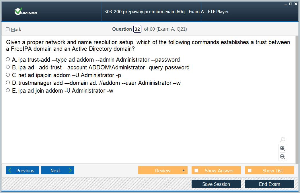 303-200 Exam Screenshot #2