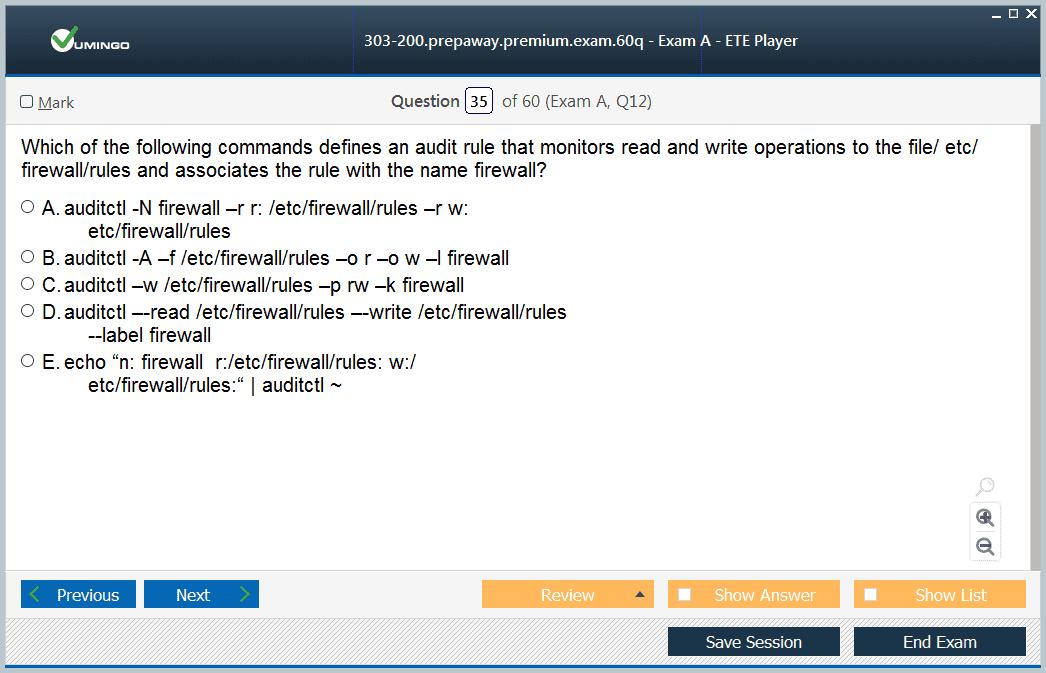 303-200 Exam Screenshot #3