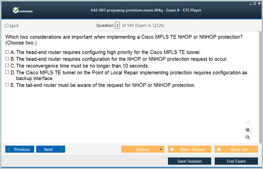 Implementing Cisco Service Provider Next-Generation Core Network Se Exam QA+SIM