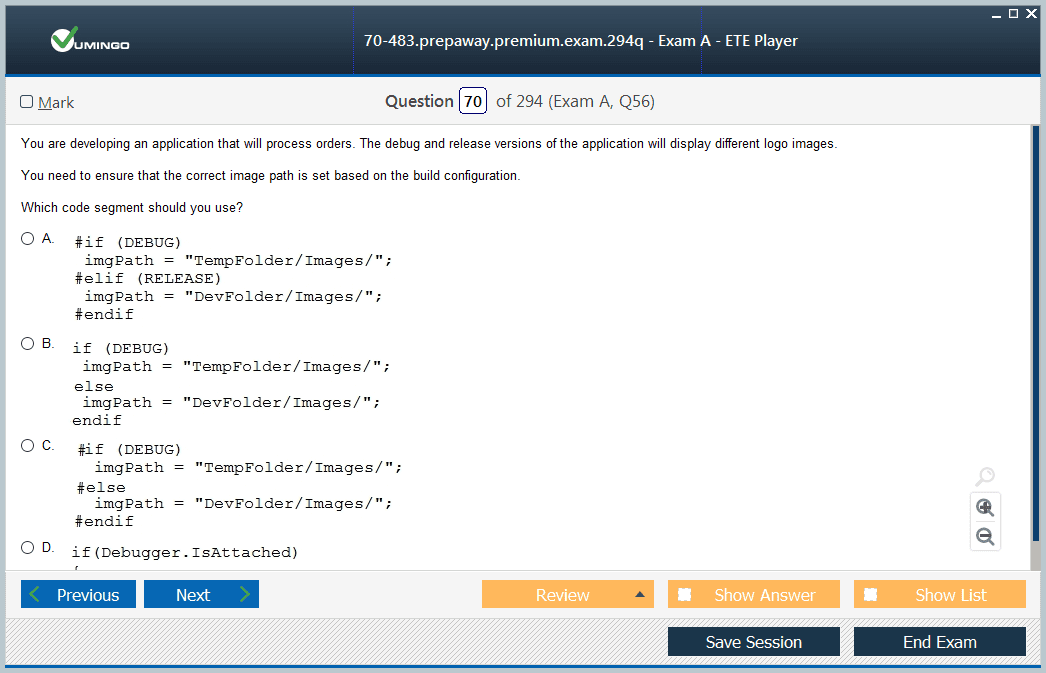 70-483 Exam Screenshot #2