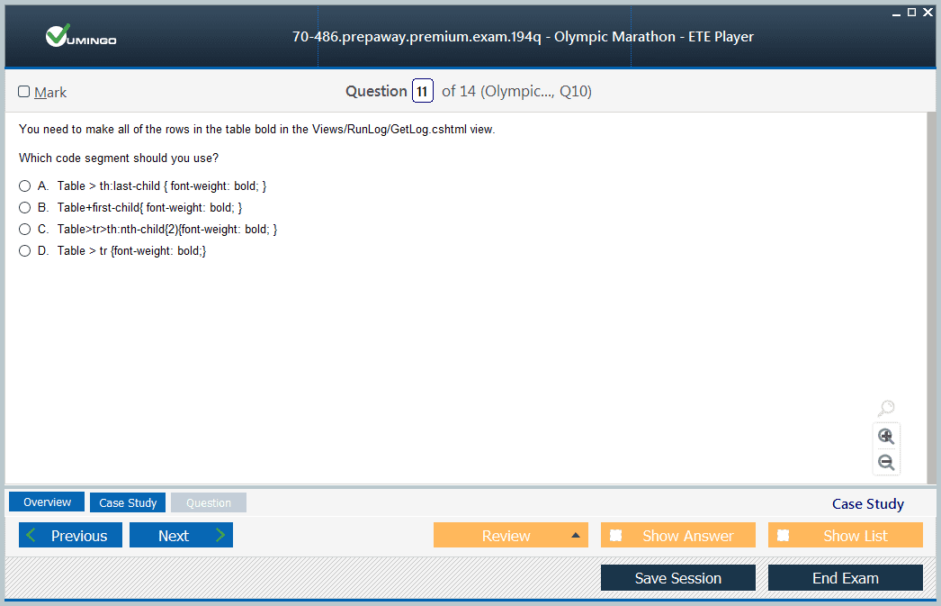 70-486 Exam Screenshot #3