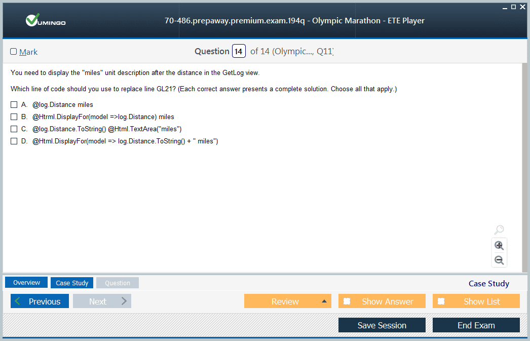 70-486 Exam Screenshot #4