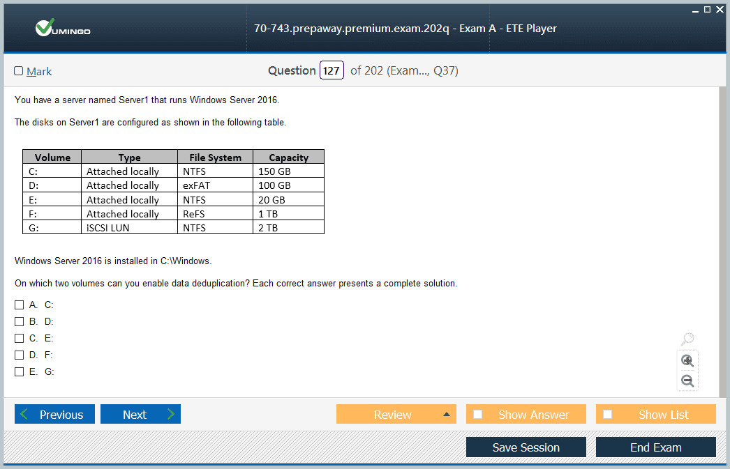 70-743 Exam Screenshot #1