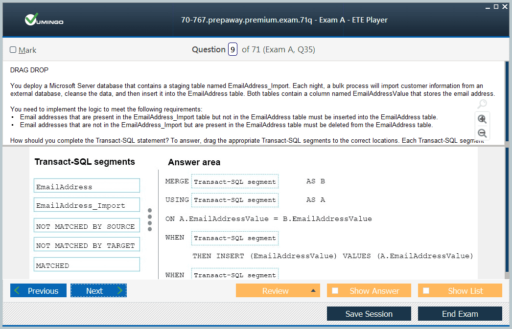 70-767 Exam Screenshot #2