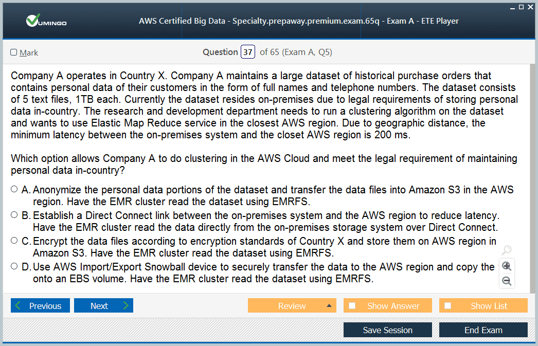 Download amazon testking aws certified big data - specialty