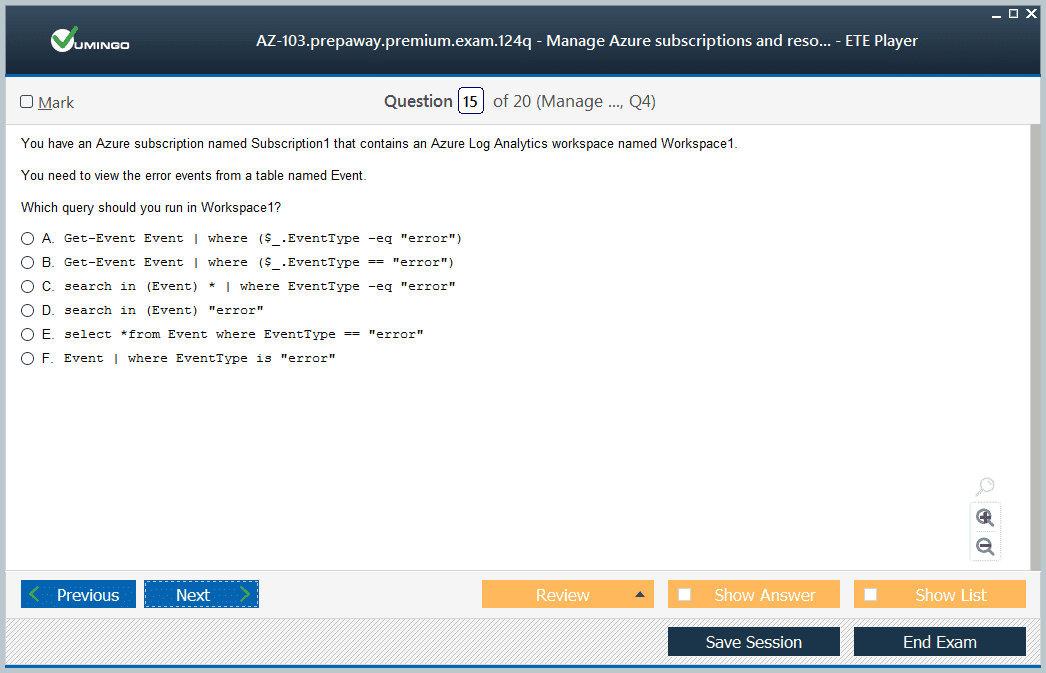 AZ-103 Exam Screenshot #3