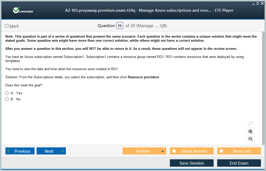 AZ-103 Exam Screenshot #4