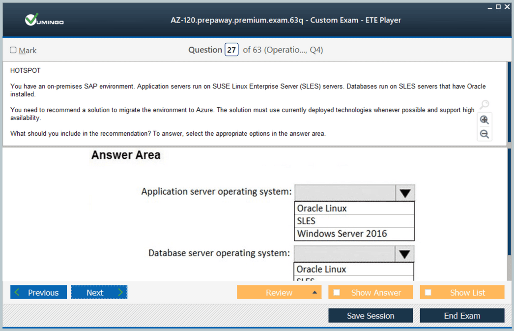 AZ-120 Exam Screenshot #3