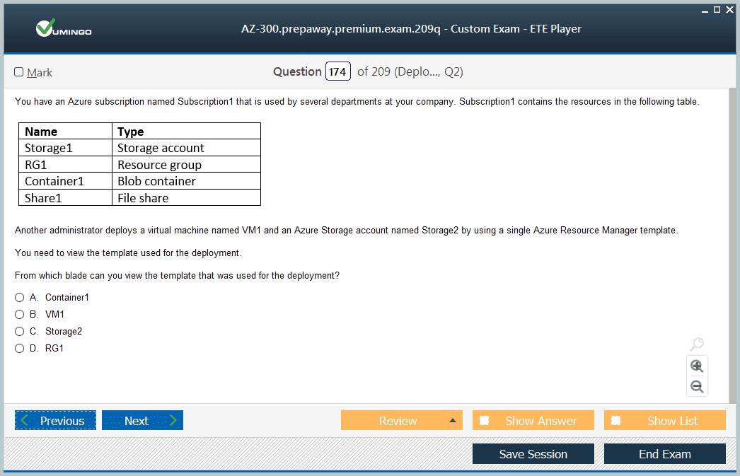 AZ-300 Exam Screenshot #4