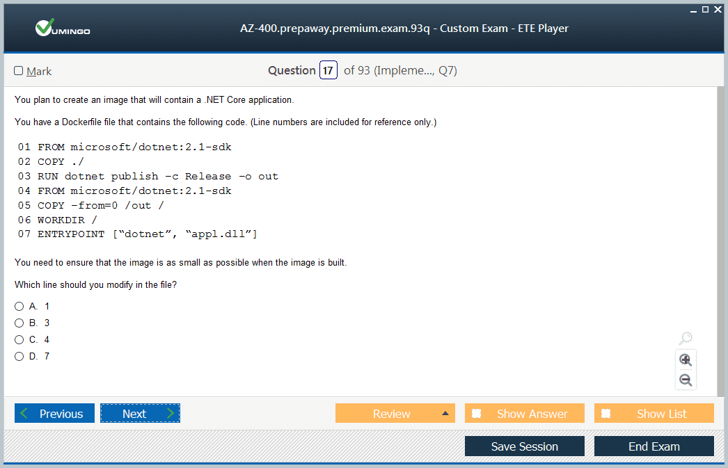 AZ-400 Exam Screenshot #1