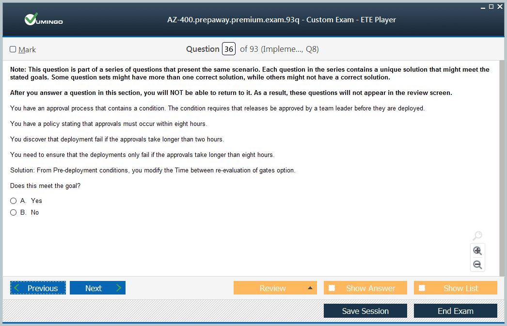 AZ-400 Exam Screenshot #2