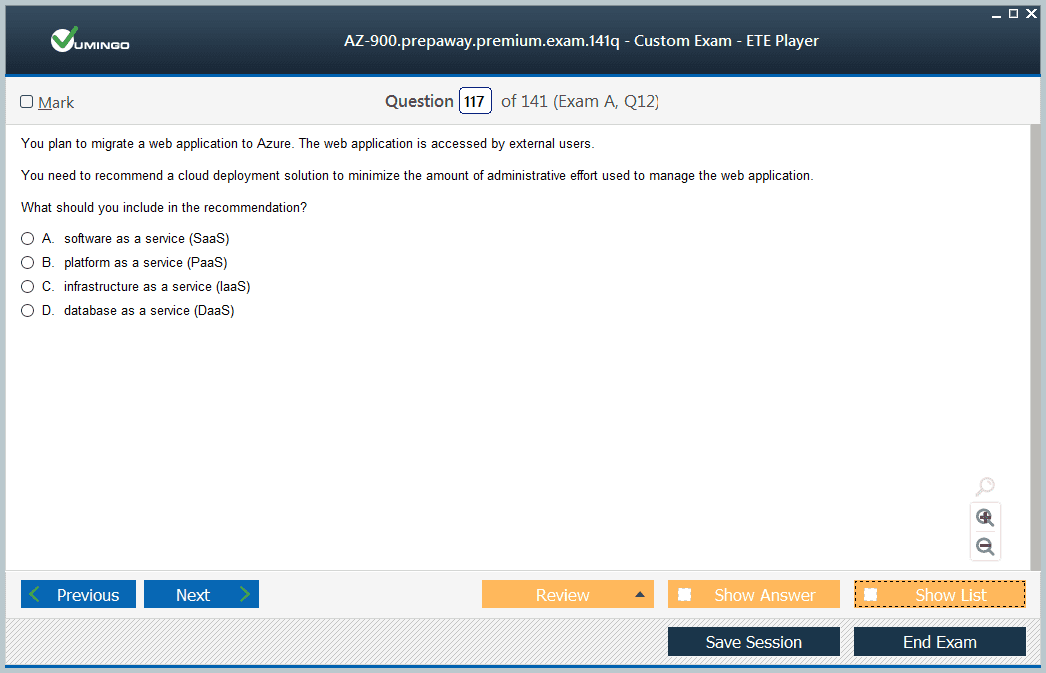 AZ-900 Exam Screenshot #2