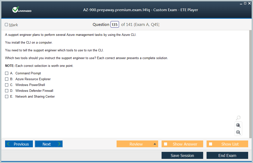 AZ-900 Exam Screenshot #3