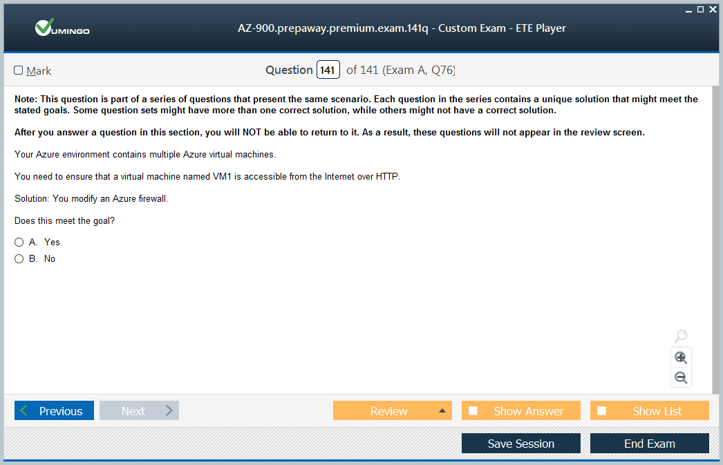 AZ-900 Exam Screenshot #4