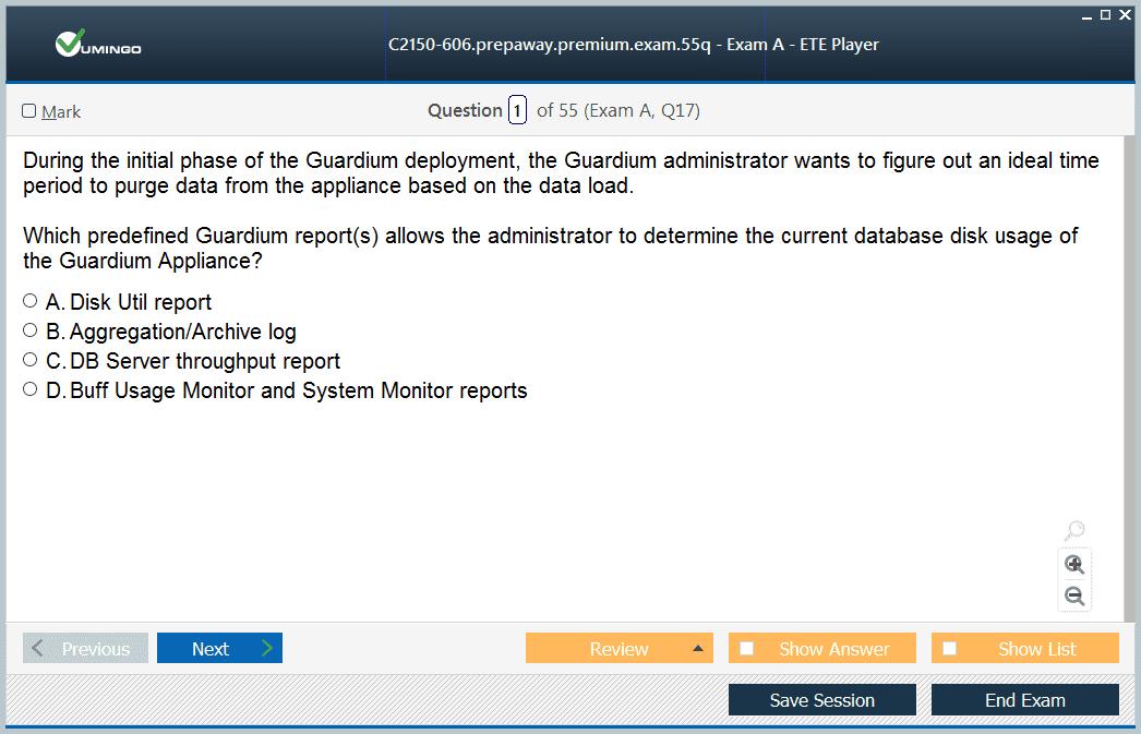 IBM Security Guardium V10.0 Administration C2150-606 Q/&A PDF+SIM