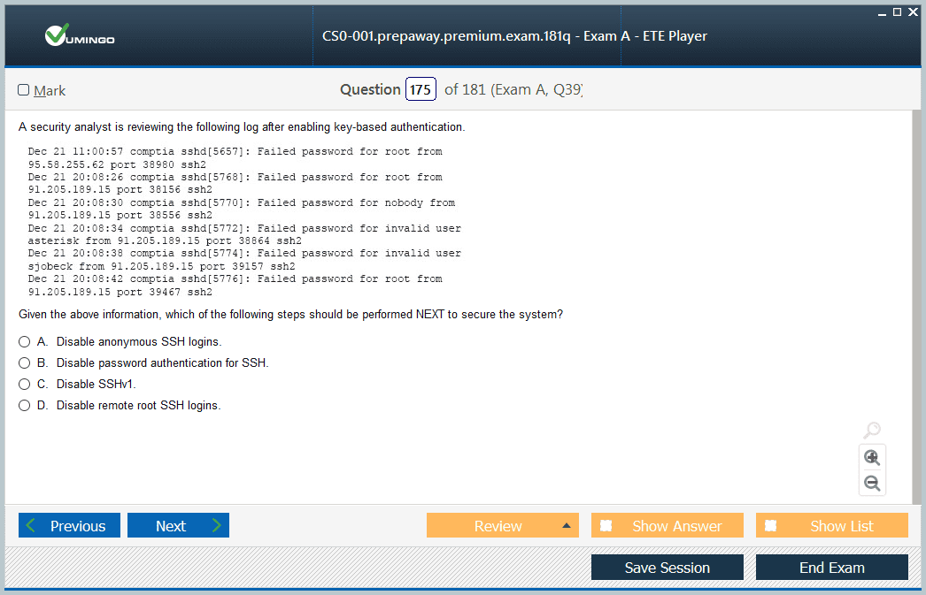 CS0-001 Exam Screenshot #4