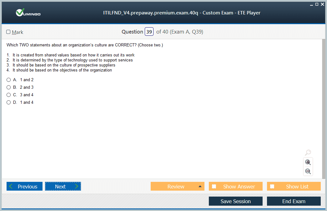 ITILFND V4 Exam Screenshot #3
