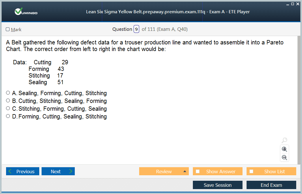 Exam Screenshot #1