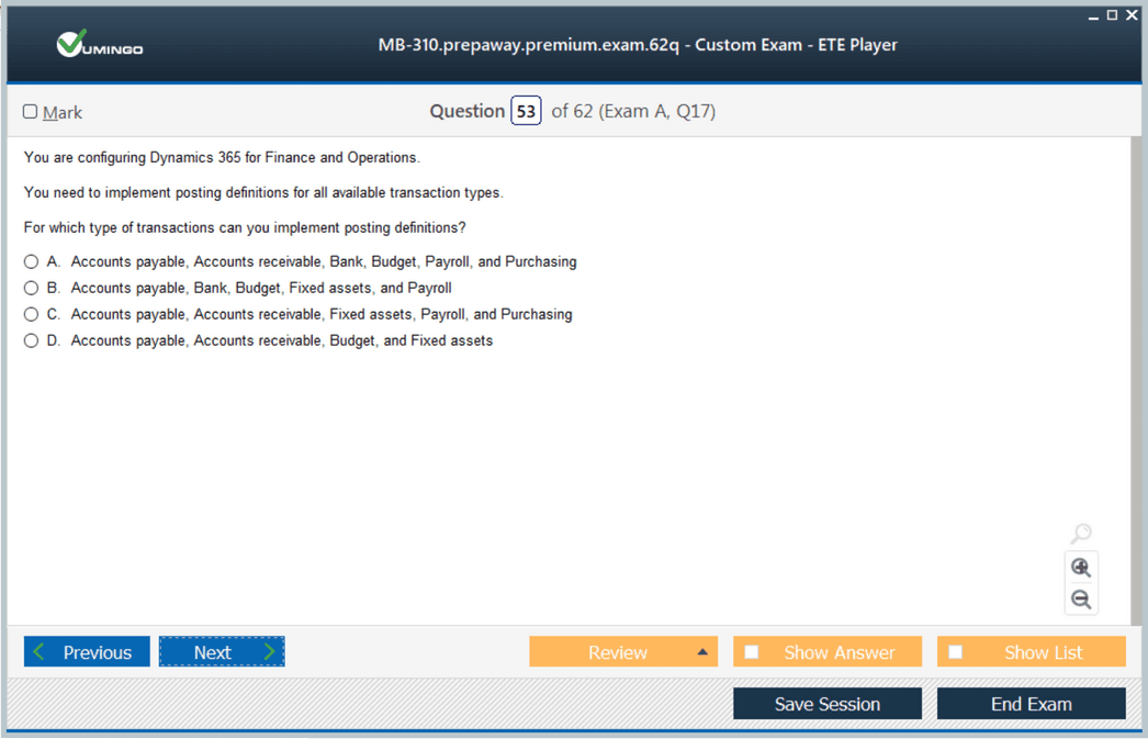 MB-310 Exam Screenshot #4