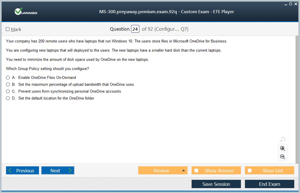 MS-300 Exam Screenshot #3