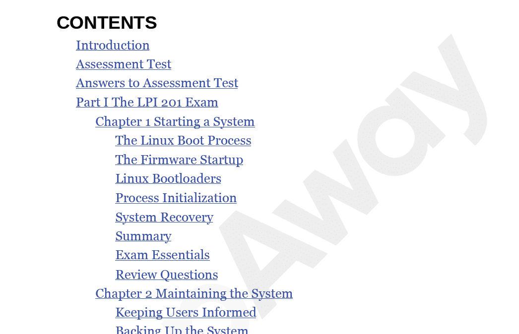 PrepAway 201-450 Study Guide Screenshot #1