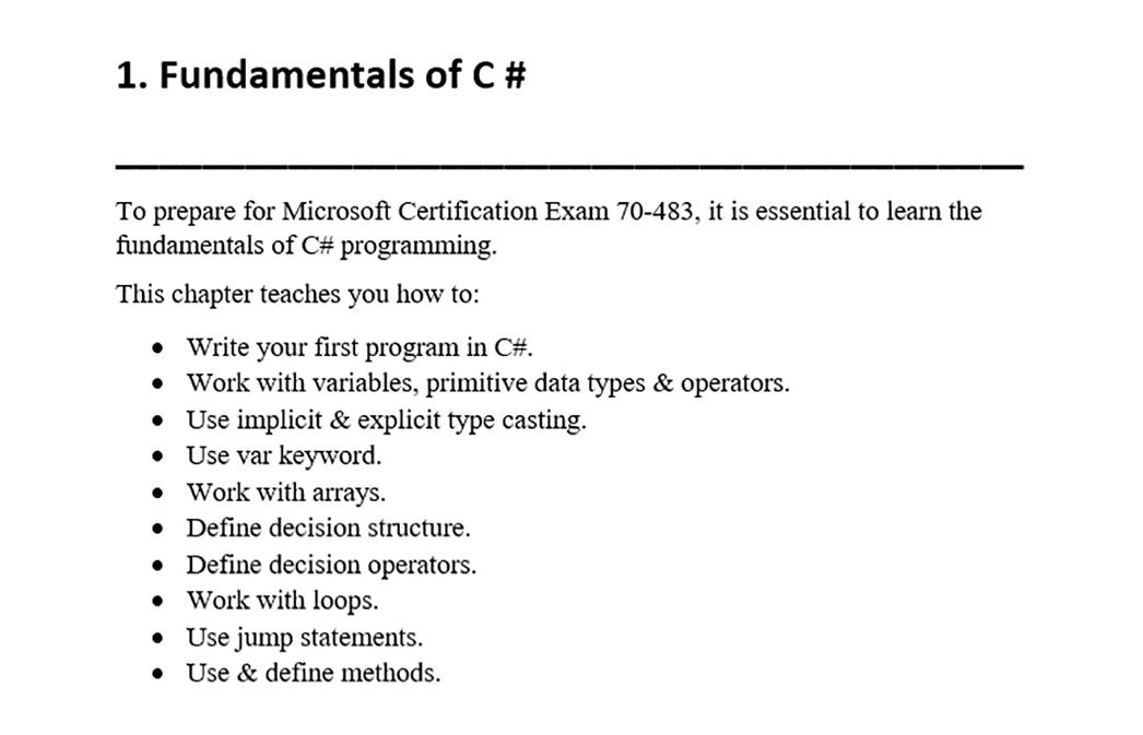 Microsoft Mcsd 70 483 Exam Dumps 70 483 Practice Test Questions