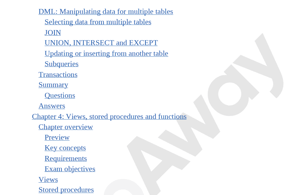 PrepAway 98-364 Study Guide Screenshot #31